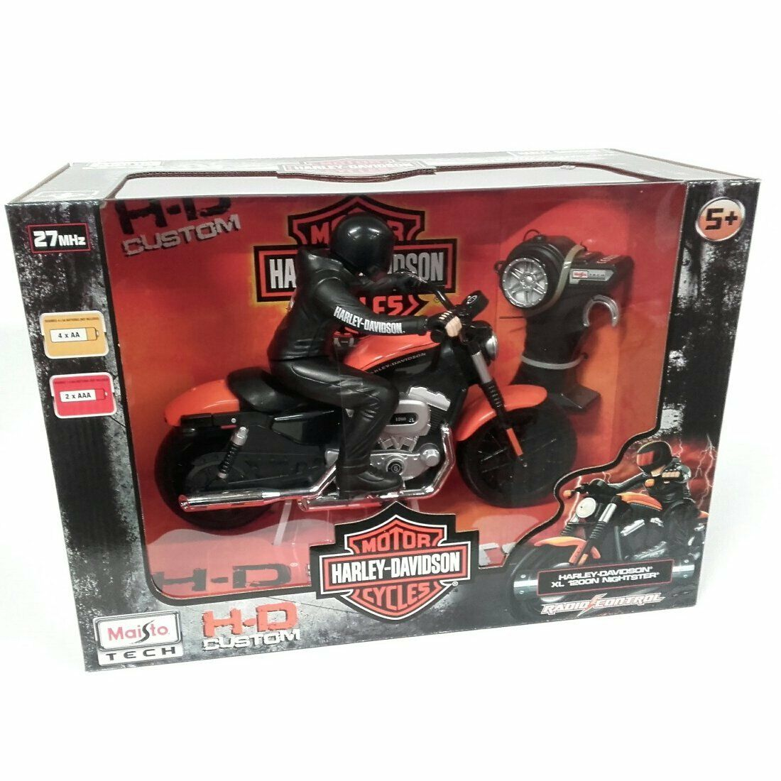 Radio Controlled Harley Davidson Motorcycle orange RC Birthday Gift Toy Car