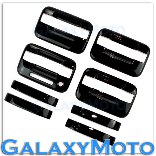 04-14 Ford F150 Truck Gloss Black 4 Door Handle+keypad+no PSG keyhole Cover