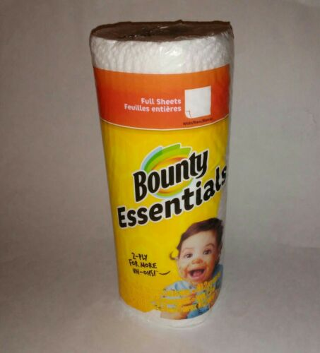 BOUNTY ESSENTIALS SELECT WHITE SHEETS PAPER TOWELS*40 SHEETS*2-PLY.....1 ROLL