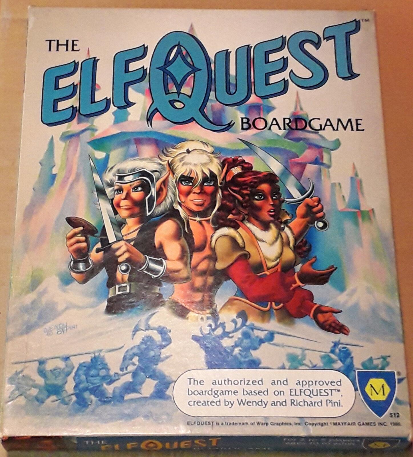 Mayfair 1986 The ElfQuest Boardgame Unplayed & complete Wendy Pini Warp Graphics
