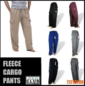 62ce8f25c14538 PRO CLUB CARGO SWEAT PANTS MEN S HEAVYWEIGHT FLEECE JOGGERS BIG AND ...