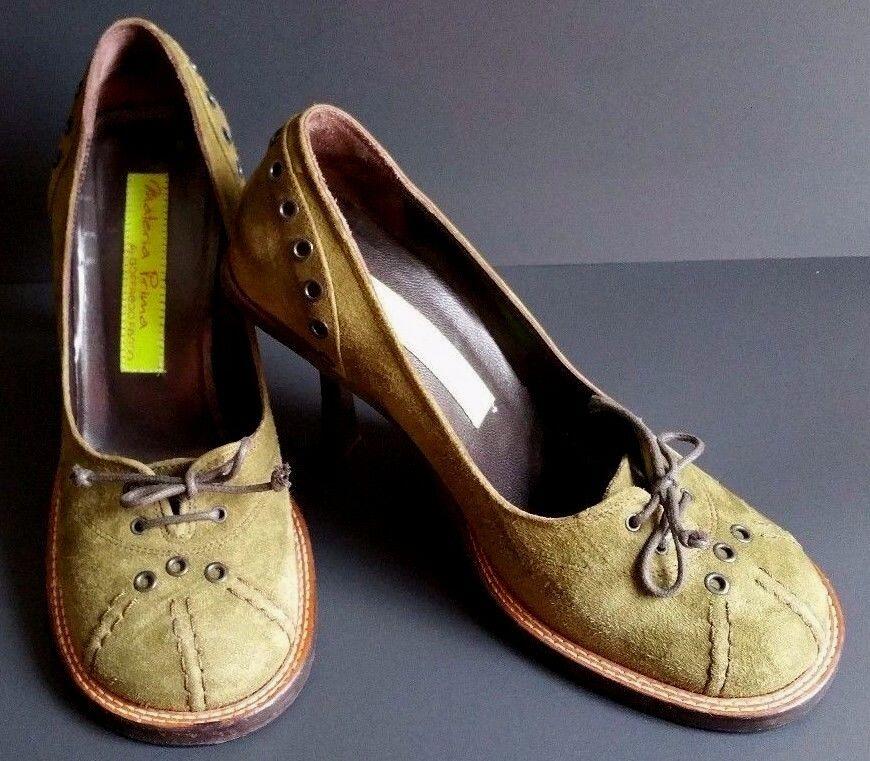 controlla il più economico Materia Prima Goffredo Fantini Olive Suede Pumps Pumps Pumps scarpe donna Sz 36 1 2 (6) It  ampia selezione