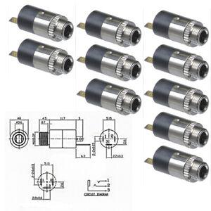 10Pcs 3.5mm Mini Female Headphones Plug Stereo Audio Panel Mount Connectors  Set | eBayeBay