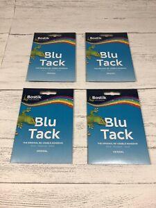 4 X BOSTIK BLU TACK ORIGINAL STICKY TAC ECONOMY HANDY SIZE BLUE 60G