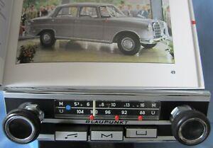 Oldtimer-radio Blaupunkt Mince Ouverture Pour Mercedes-benz Pagode W113 111 Bmw-afficher Le Titre D'origine