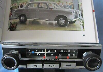 Oldtimer-radio Blaupunkt Sottile Pannello Frontale Per Mercedes-benz Pagode W113 111 Bmw-mostra Il Titolo Originale