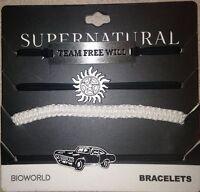 Supernatural Team Free Will 4pk Piece Cord Bracelet Set Symbol Car Impala