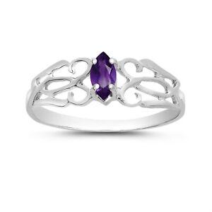 14k-White-Gold-Marquise-Amethyst-filigree-Ring