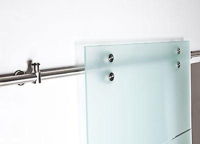 Glastürschiebesystem V2000 für Glastüren ohne Senkbohrung, Schienenlänge 2100 mm