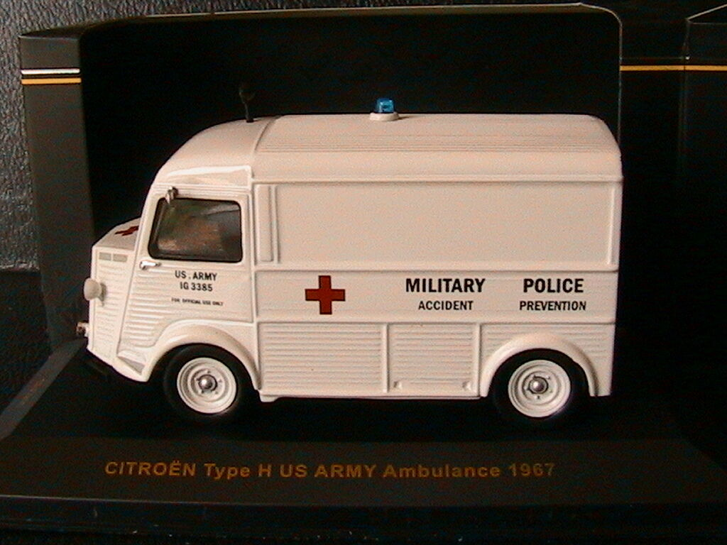 CITROEN TYP H US ARMY AMBULANCE POLITIK FÖREBYGGNAD 1967 IXO CLC211  43 TOLE