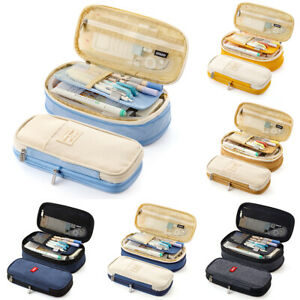 Large-Capacity-Pencil-Case-Box-Pen-Bags-School-Work-Stationery-Organizer-Bags