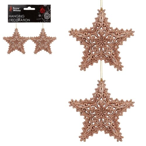 Paillettes Collection Arbre de Noël décoration-Lot de 2 Star-Choisir Design