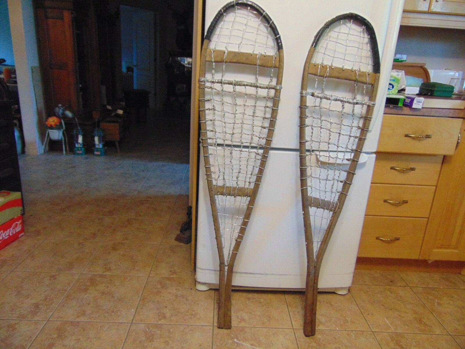 Antique ,   snowshoes  -     nice   12  x  50   nice