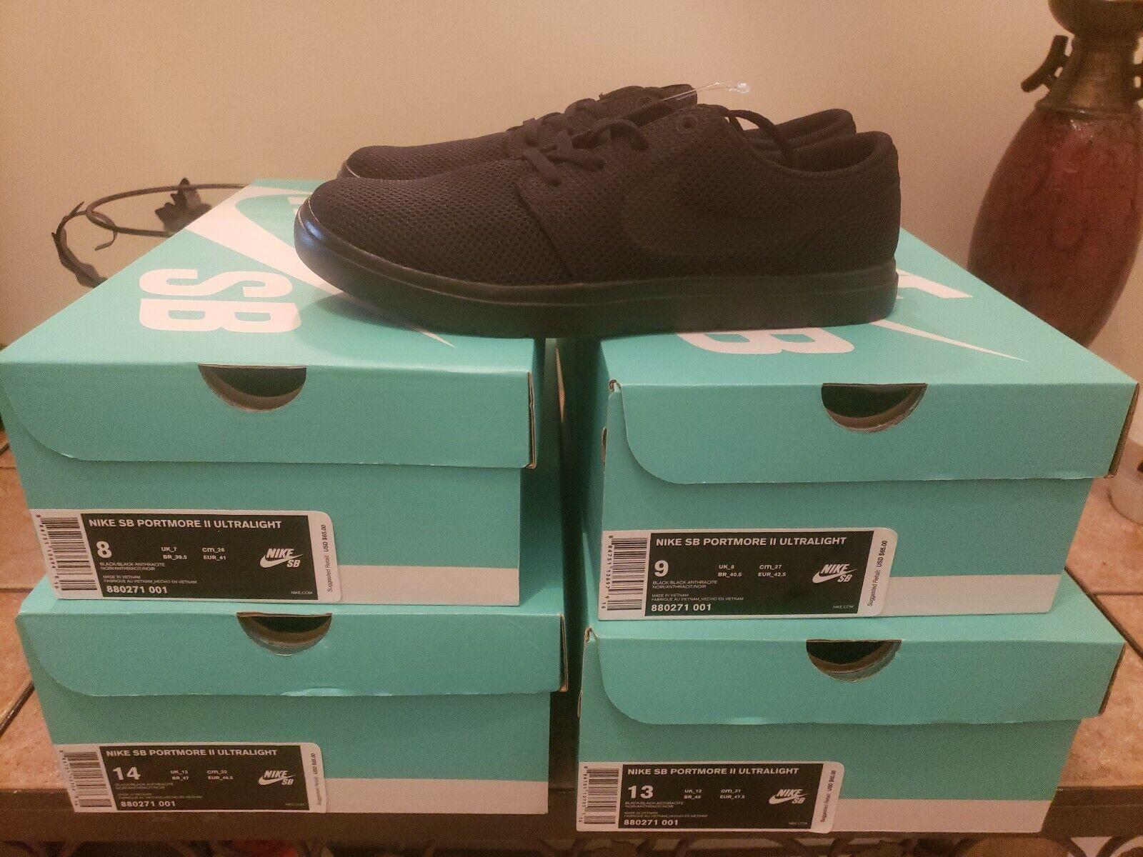 Nike Mens SB Portmore II Ultralight Cross Training shoes 880271-001  Sz.14. New