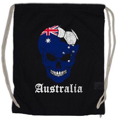 Australia Football Skull I Turnbeutel Australische Flagge Fußball Australien Het Comfort Van Het Volk Aanpassen