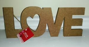 LOVE-Wooden-Wall-Sign-Home-Decor-Sign-Valentine-039-s-Day-Sign