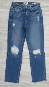 Jeans Droit 26 Sackett Jean Le Femmes Nouveau Frame 2 Neuf Lavage En tfqBgT