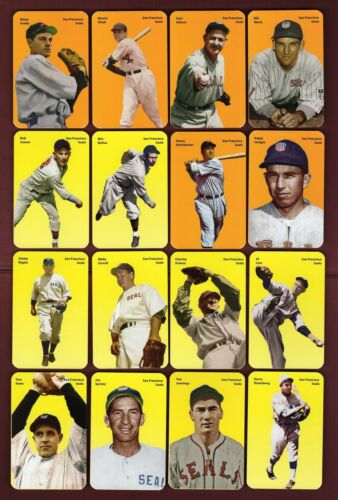 2017 Carl Aldana Seals//PCL WW2 set: 73 color cards with 20+ FIRST CARDS S.F