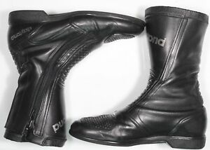 DAYTONA-Frey-Motorradstiefel-Schuhe-schwarz-Gr-43-gebraucht-Kurzschaft
