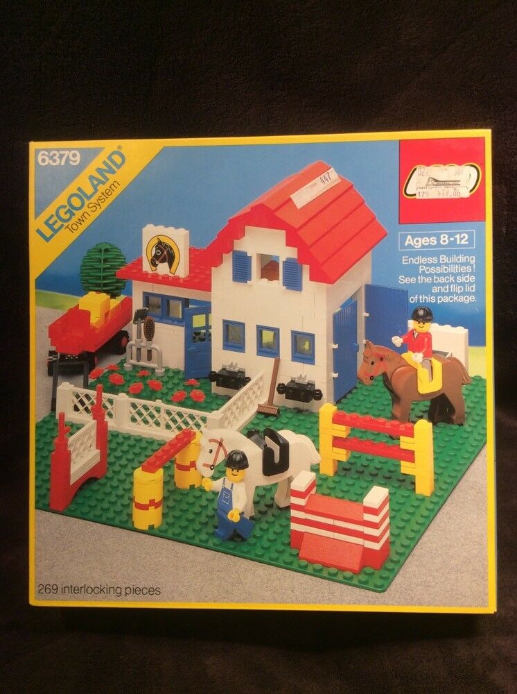 Vintage NEW Lego Town Classic 6379 RIDING STABLE LEGOLAND Sealed Horse Farm