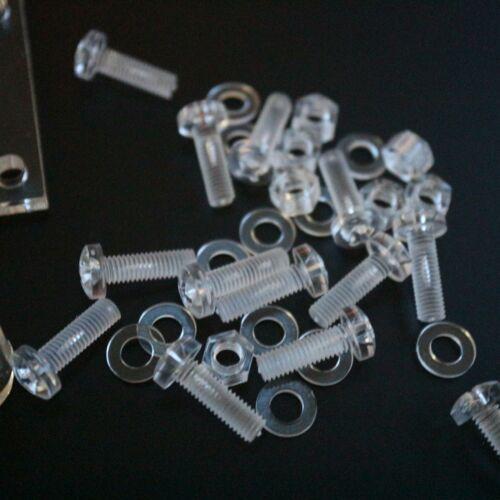 4 x V4-5mm transparente Verstärkung L-Winkel Perspex Acryl 40x M5-Schrauben