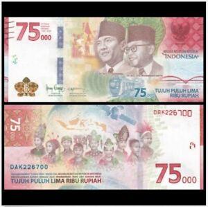 Indonesia 75000 Rupiah 2020 75th Anniversary Commemorative (UNC)