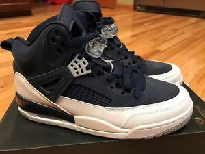 ab98c452ff8e14 Image is loading Nike-Jordan-Spizike-Midnight-Navy-Metallic-Silver-315371-