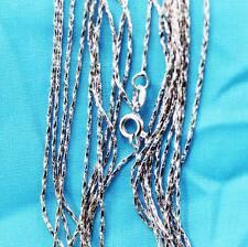 wholesale lots 10pcs  Silver 1.0mm wave Chain Necklace LT2