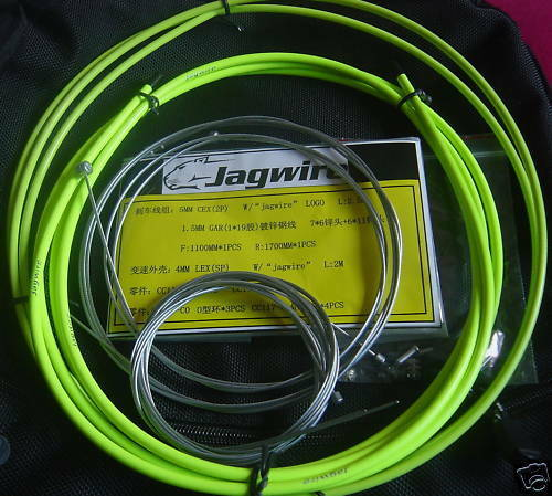 JAGWIRE HOUSING CABLE BRAKE SHIFTER COMPLETE KIT BLACK SUIT SRAM SHIMANO AVID