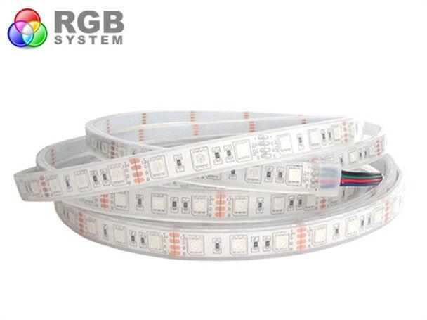 A2ZWORLD STRISCIA STRIP BOBINA LED IMPERMEABILE IP68 ColorE RGB CON 300 SMD 5050