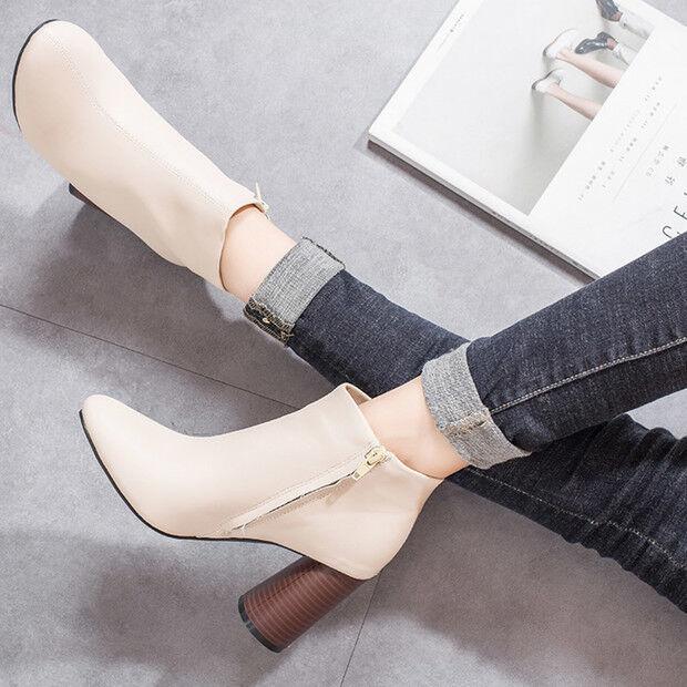 Stivali stivaletti bassi shoes anfibi 8.5 cm beige eleganti simil pelle 9599