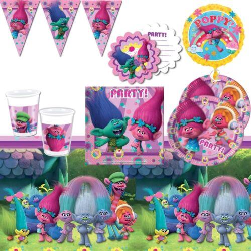 Decoraciones invita a Globos Trolls Party Supplies Vajilla Bolsas De Fiesta