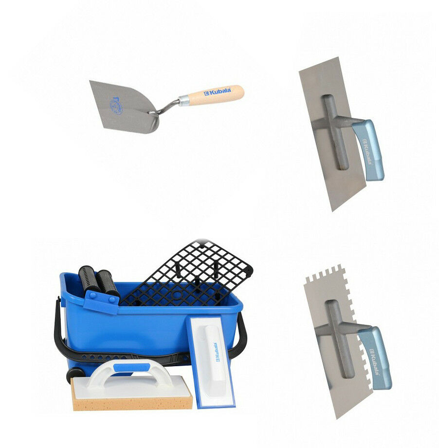 9-tlg Fliesenleger Waschbox Wascheimer Fugbox Waschset KUBALA Zahnkelle Kelle  1 | Exquisite (mittlere) Verarbeitung  | Deutschland Shop  | Kaufen