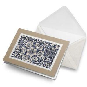 Greetings-Card-Biege-Baroque-Style-Vintage-Pattern-3081