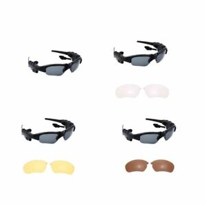4dac8abb4e17 Image is loading Wireless-Smart-Sunglasses-Headphones-Eyewear-Stereo- Bluetooth-4-