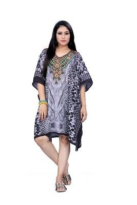 Free Size Kaftan Tunic Top Beach cover up 14,16,18,20,22,24,24