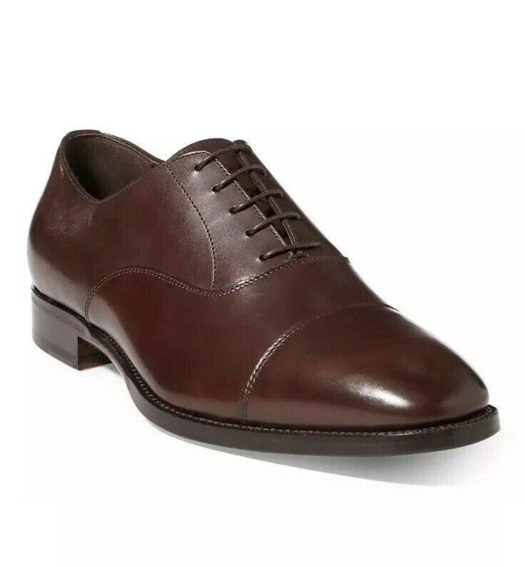 Ralph Lauren Collection viola Label Bartsworth Oxfords Calf Leather scarpe