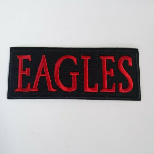 THE EAGLES PATCH Embroidered Iron On CLASSIC RED Logo Rock Band Badge NEW