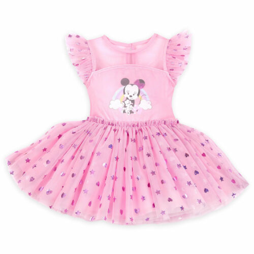 DISNEY STORE MINNIE MOUSE FANCY DRESS MATCHING BLOOMERS FOIL HEARTS /& STARS NWT