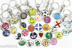 2-SHOPPING-TROLLEY-TOKEN-TROLLIES-1-COIN-KEYRING-LOCKER-TOKENS-TROLLY-KEYRING
