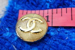100-Chanel-button-1-pieces-metal-cc-logo-0-9-inch-24-mm-gold