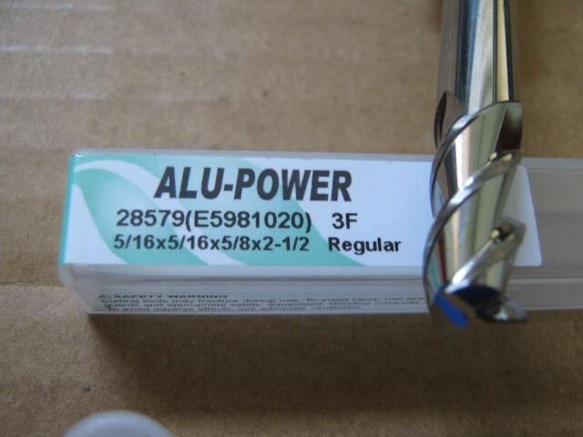 "ALU-POWER 3 Flute Carbide End Mill 3//8/""x1/"" LOCx 2 1//2/"" OAL YG-1 brand"