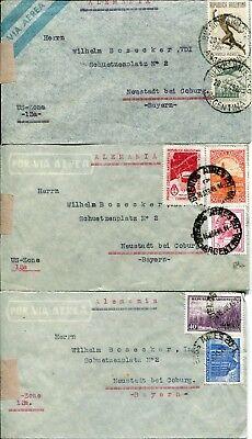 -> Alemania postwar Period DemüTigen 3 Belege/letters Republica Argentina #2