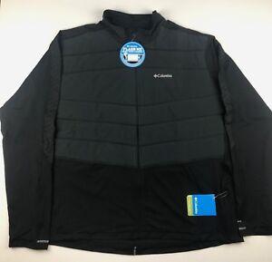 Columbia-Mens-2XL-Black-Trail-Flash-Hybird-Reflective-Detailing-Full-Zip-Jacket