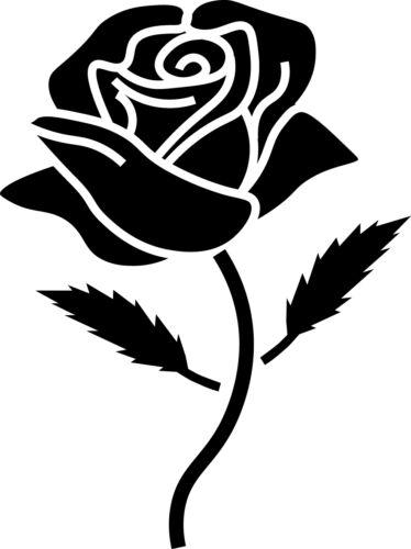 Pantalla De Pared Coche Ventana Retro Rosa Flor Silueta Calcomanía Vinilo Sticker Craft 1