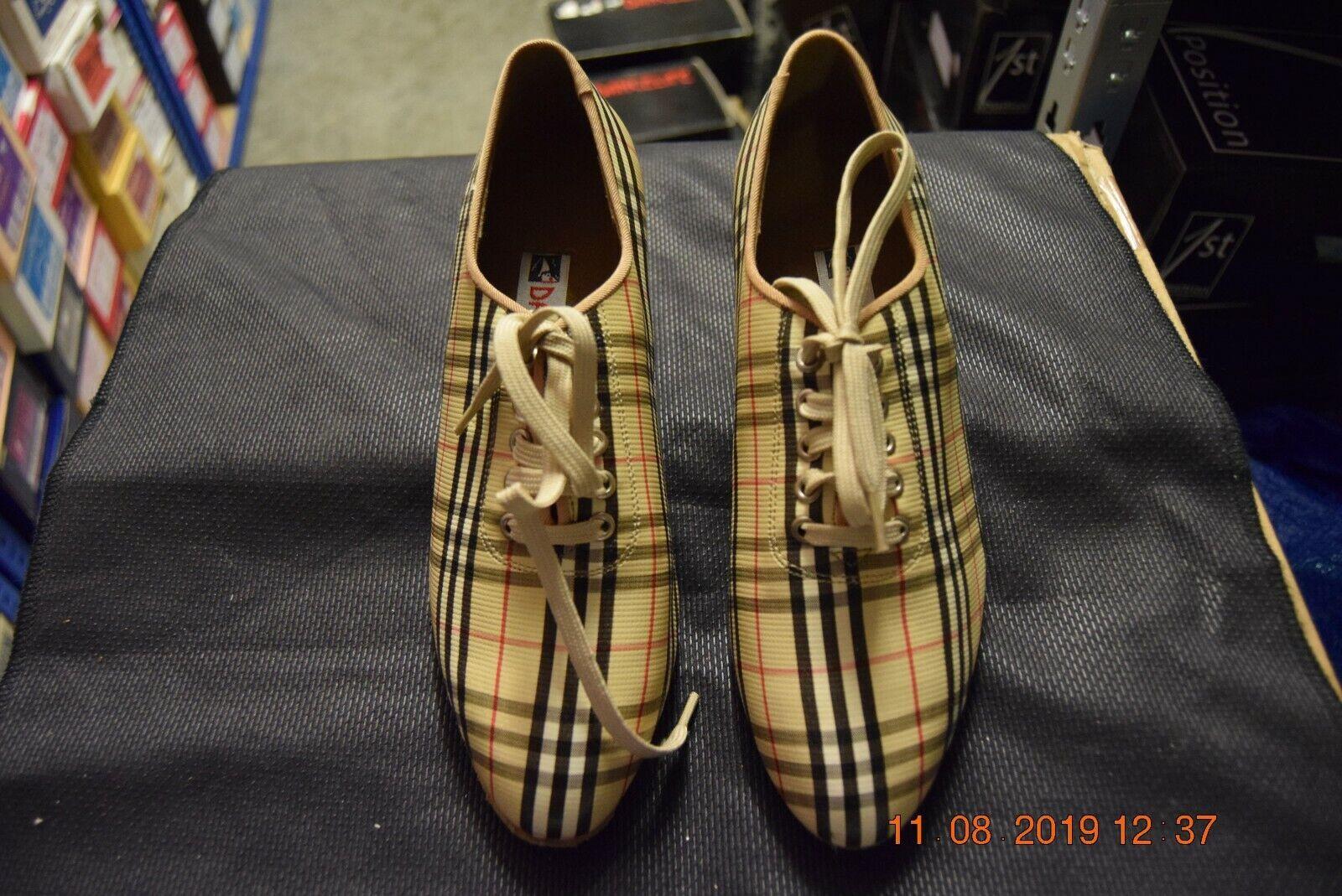 Tartan oxford dancelife 49590 ballroom / latin dance shoes - size UK 3.5