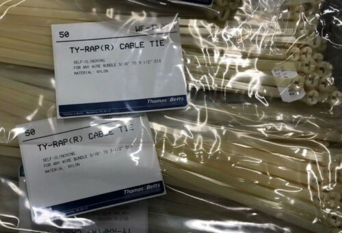 THOMAS/&BETTS TY-RAP CABLE TIE 50 Piece WE-TY27M Nylon SELF-CLINCHING R