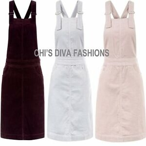 EX-NEW-LOOK-90-039-s-Cord-Pinafore-Mini-Dress-Sizes-8-20-LENGTH-UP-TO-35-034