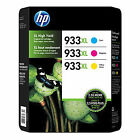 2015 3-Pack HP 933XL Color Set C M Y 933 Genuine Ink Cartridges 7110 7610 7612