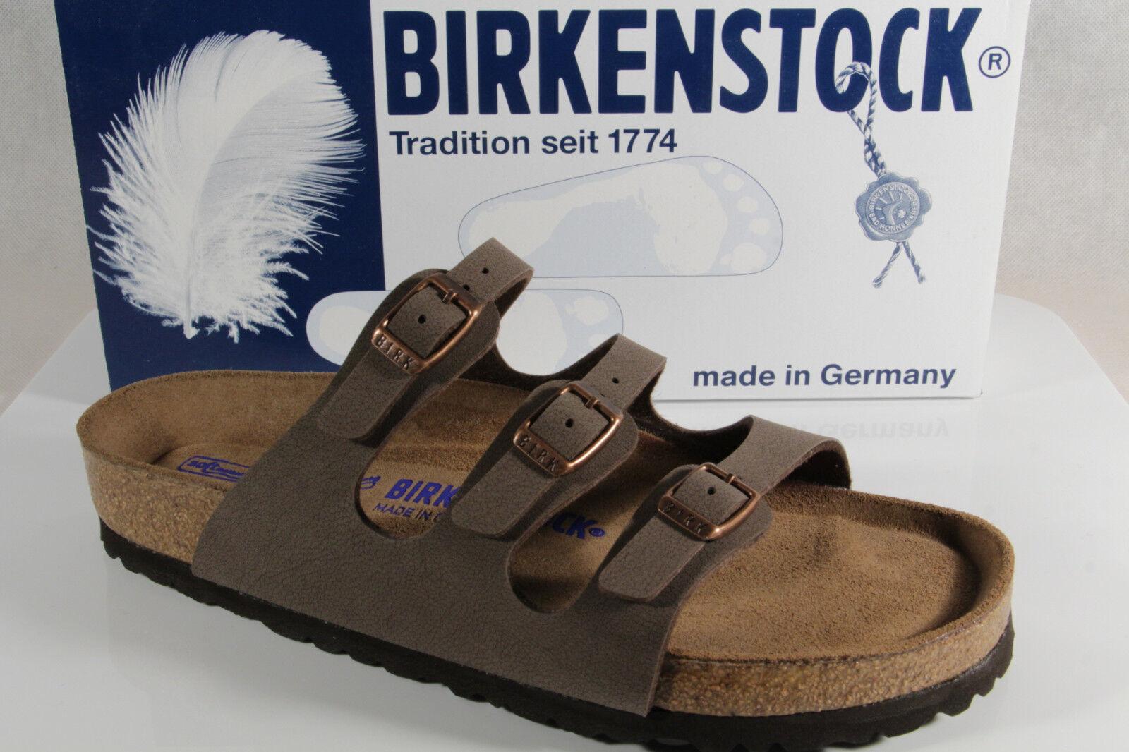 Birkenstock Sandalias Sandalias Sandalias de mujer Birkoflor Marrón 053881 NUEVO 8a2acb